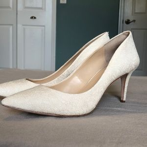 Vince Camuto ivory brocade pump - size 10